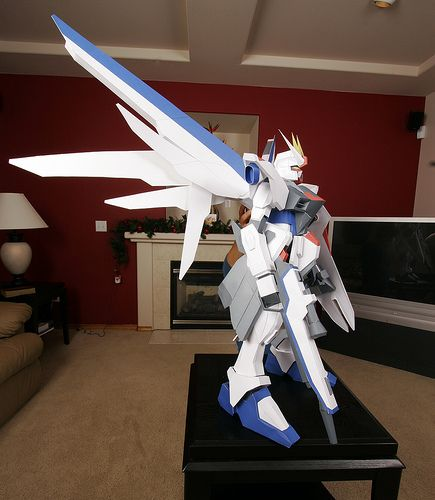 giant gundam papercraft model