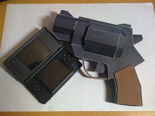 gta chinatown wars pistol papercraft weapon