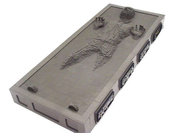 han solo frozen in carbonite lego art 1