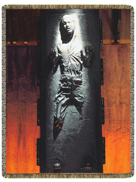 han solo frozen in carbonite throw 1