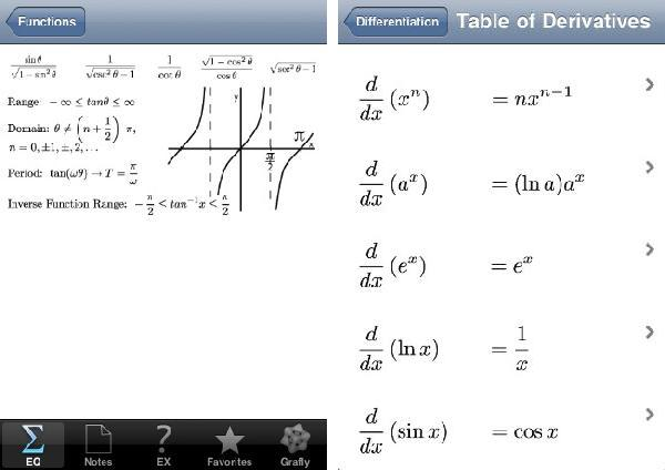 Math Ref Free iPhone App
