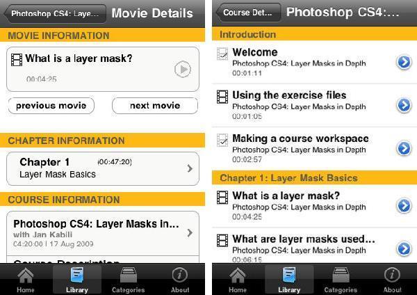 lynda.com iPhone App