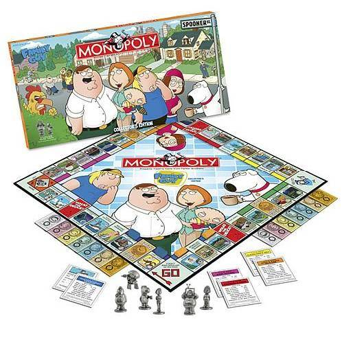 monopoly board game family guy edition