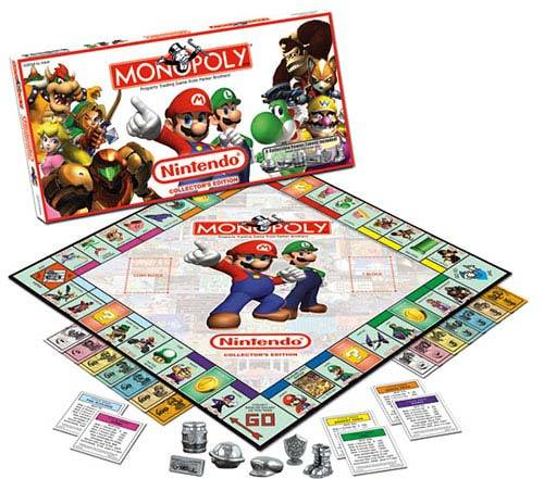 monopoly board game nintendo characters edition