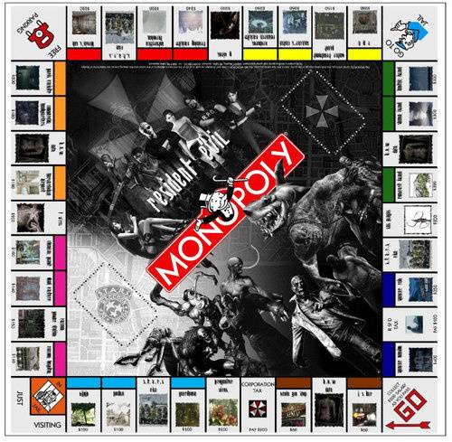 monopoly board game resident evil edition