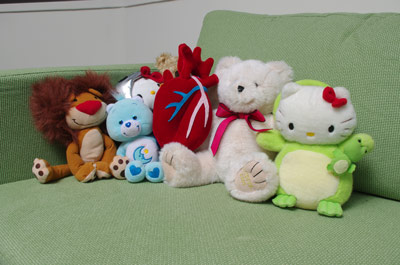 plush beating heart group