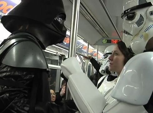 star wars subway car improv everywhere video