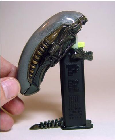 Alien PEZ dispenser