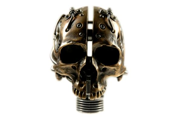 Biomech Bronze Skull1