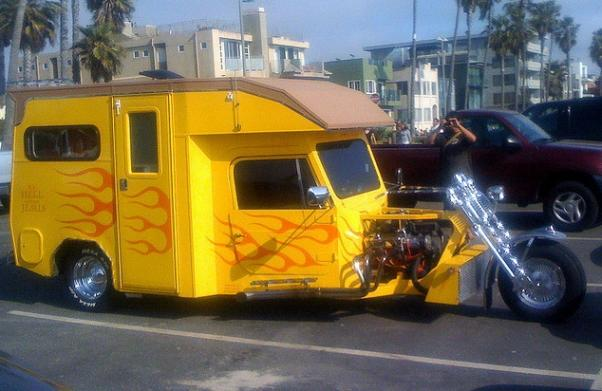 Custom motorcycle RV mod motorcycle mod design