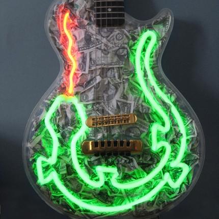 Neon Lizard Guitar