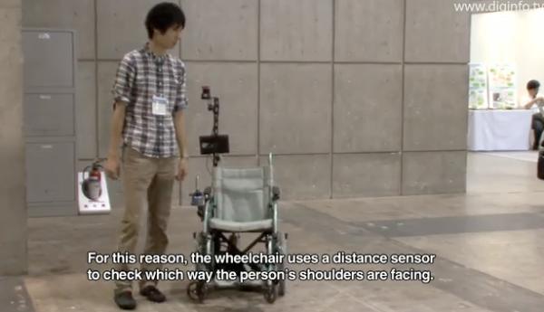 Robotic Wheelchair Follows Humans