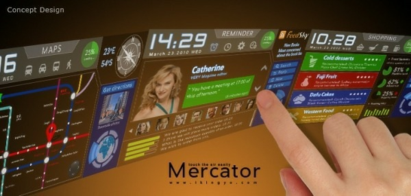 Touch The Air With The Mercator Cellphone Concept