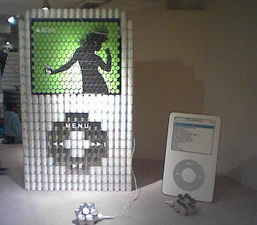 apple ipod canstruction artwork 1