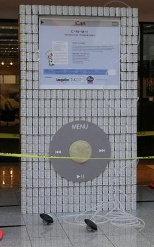 apple ipod canstruction artwork 2