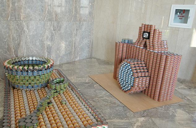 camera canstruction artwork
