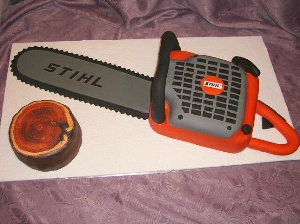 chainsaw cake design image 1