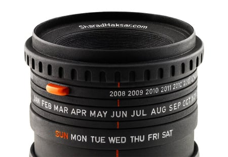 creative calendar design camera lens image