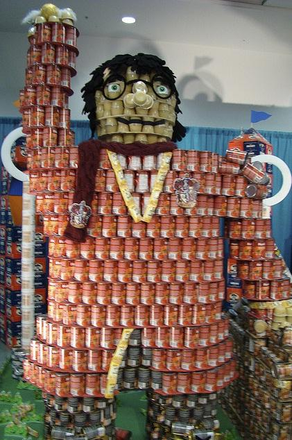 harry potter canstruction artwork