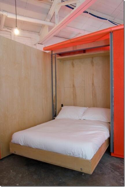 Interior Living Unit Bed