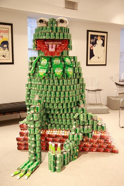 kermit canstruction artwork 2