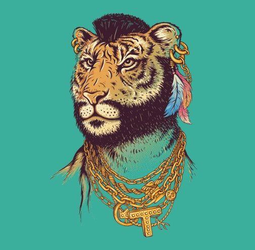 mr t tiger shirt design image