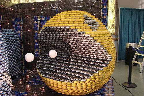 pacman canstruction artwork 1
