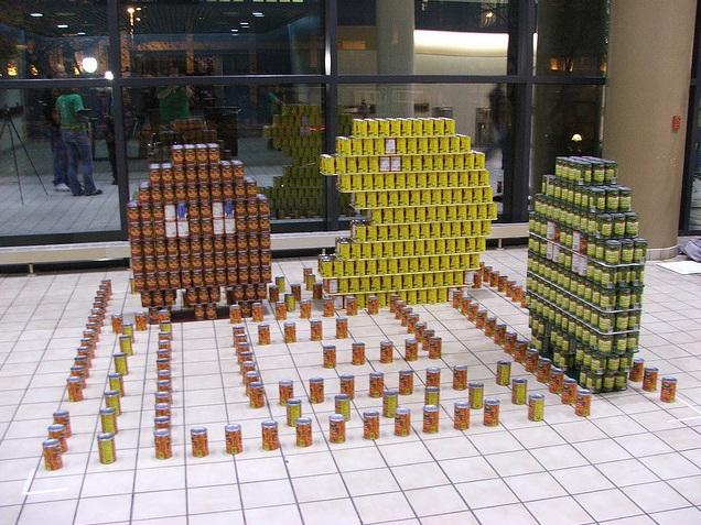 pacman canstruction artwork 2