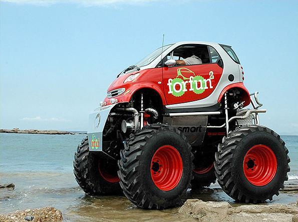 smart car monster truck design image