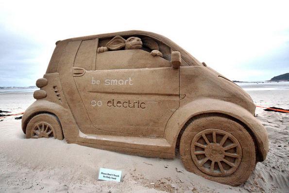 smart car sand sculpture design