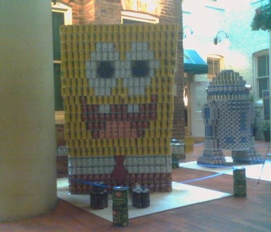 sponsgebob squarepants canstruction artwork