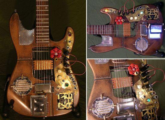 steampunk guitar mod design 2