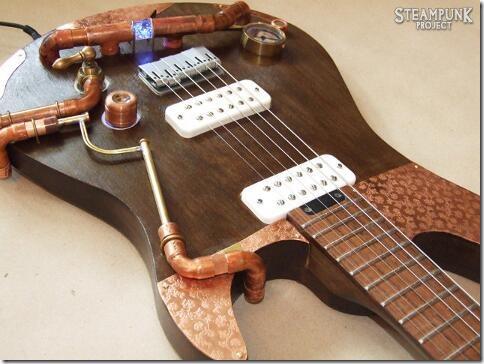 Steampunk Guitar Body and Bridge