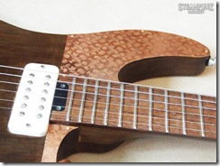 Steampunk Guitar Cutaway and Pickups