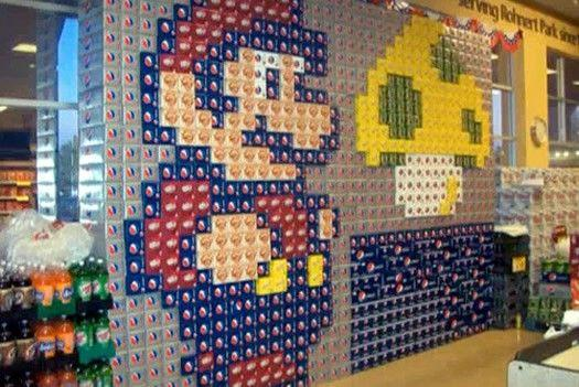 super mario bros canstruction artwork 2