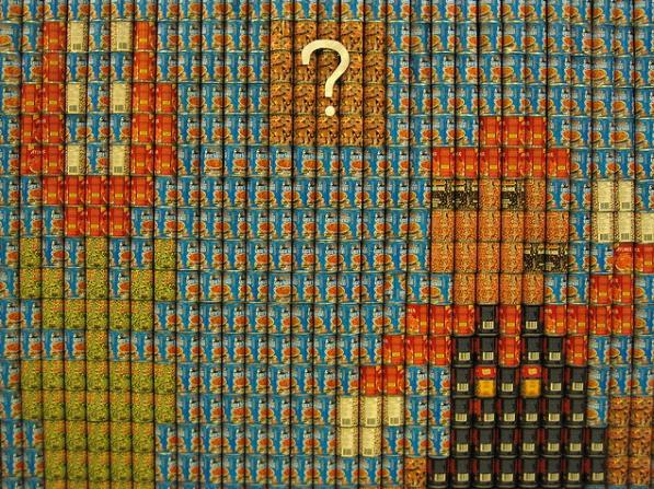 super mario bros canstruction artwork 5