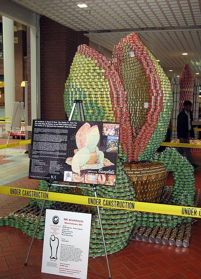 super mario bros canstruction artwork piranha plant