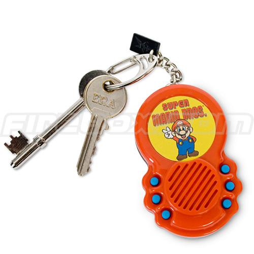 super mario bros theme keychain