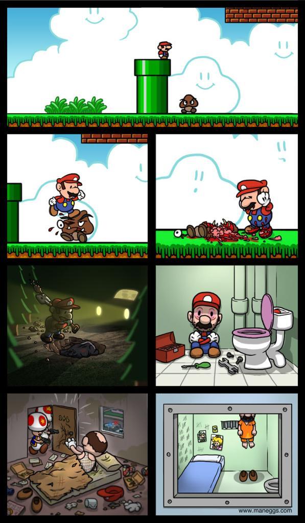 super mario comic depression image thumb
