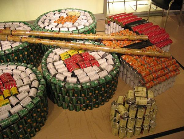 sushi combination canstruction artwork