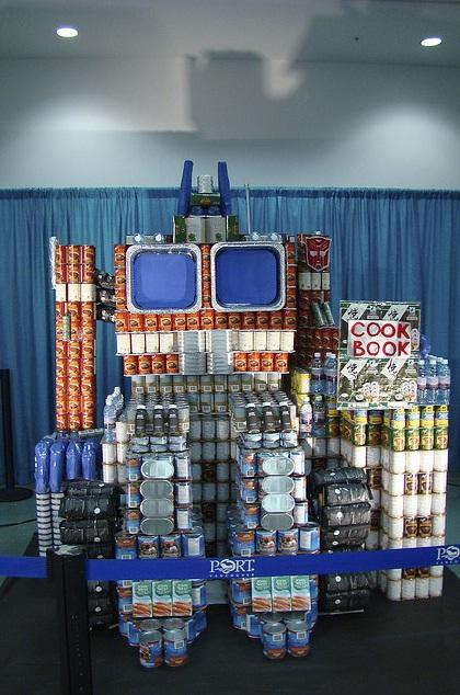 transformers optimus prime canstruction artwork
