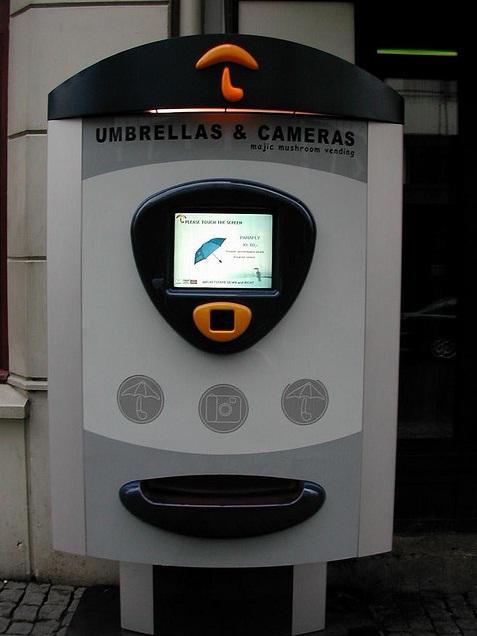 umbrella and camera vending machine image
