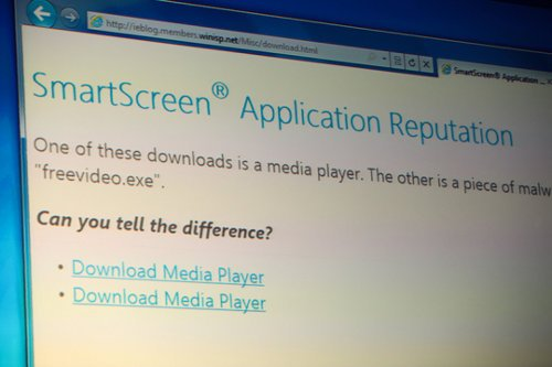 IE9 Beta Smartcast