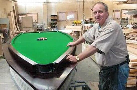 Peter McKee pool table