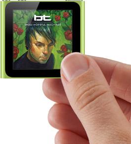 ipod nano multitouch screen size thumb