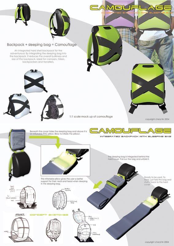 sleeping bag backpack camouflage design