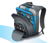 Trek Support Electric Backpack Compartments