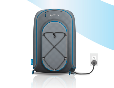 Trek Support Electric Backpack Plugged in