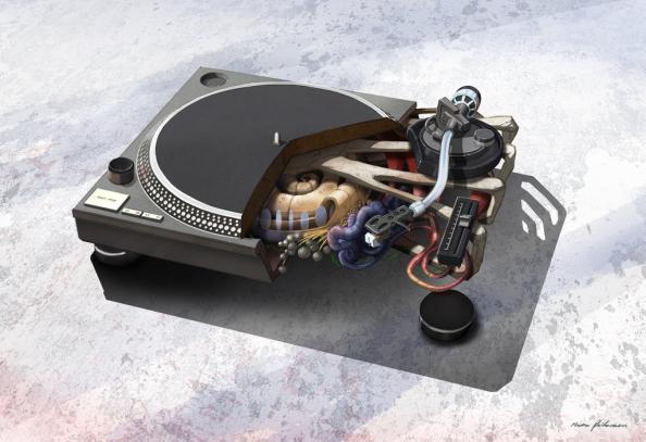 1210 turntable music anatomy design image