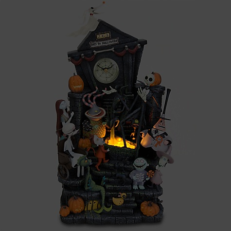 lit up - Nightmare Before Christmas Clock - Walyou